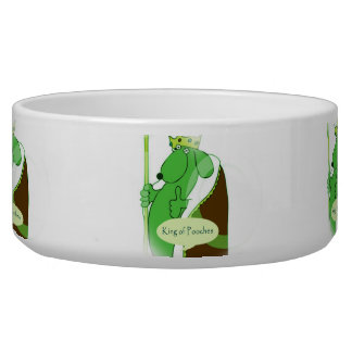 The King of Pooches funny dog pet food bowl