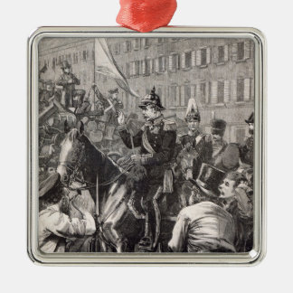 The King of Prussia addressing the Berliners Metal Ornament