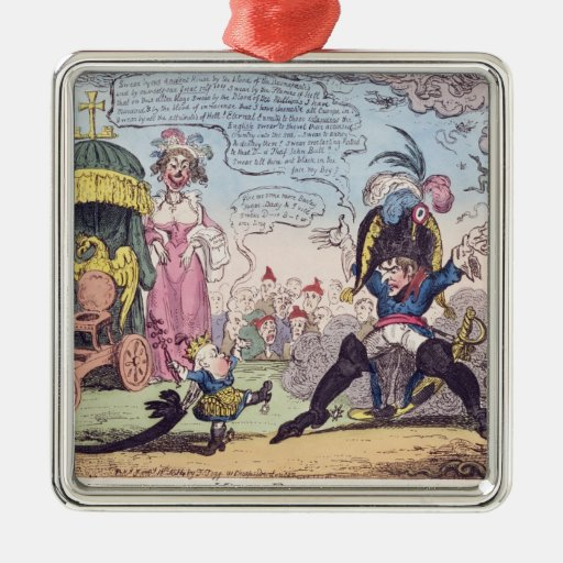 The King of Rome, 1814 - cartoon showing Napoleon Ornament