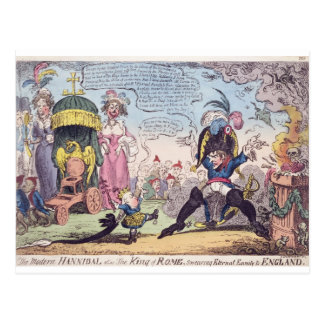 The King of Rome, 1814 - cartoon showing Napoleon Postcard