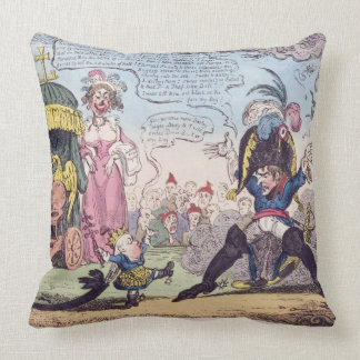 The King of Rome, 1814 - cartoon showing Napoleon Throw Pillow