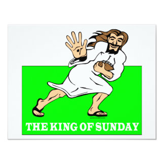 "THE KING OF SUNDAY 4.25"" X 5.5"" INVITATION CARD"