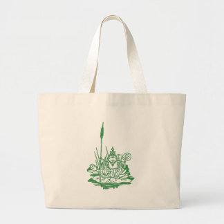 The King of the Bullfrogs Opens Parliament Large Tote Bag