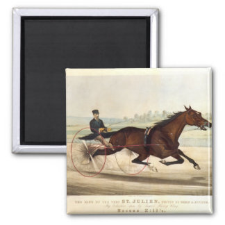The King of the Turf, 'St. Julien' 2 Inch Square Magnet