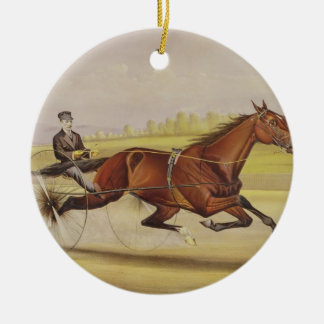 The King of the Turf, 'St. Julien', Driven by Orri Christmas Tree Ornaments