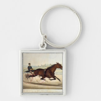 The King of the Turf, 'St. Julien' Silver-Colored Square Keychain
