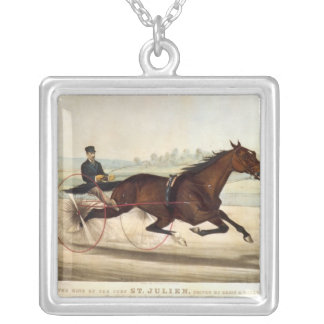 The King of the Turf, 'St. Julien' Square Pendant Necklace