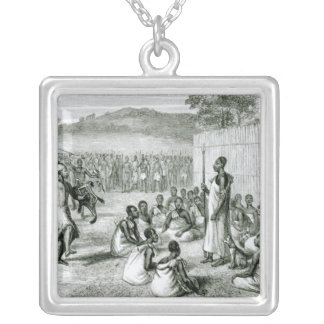The King of Uganda Reviewing Colonel Silver Plated Necklace