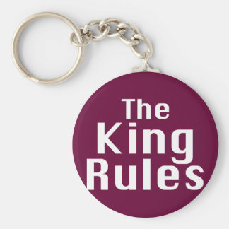 The King Rules Gifts Keychain