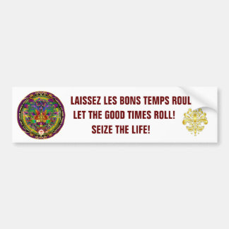 The King Seize the Life Theme Party Bumper Sticker