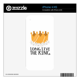 The King Decal For iPhone 4