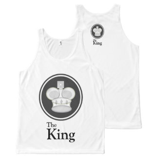The King White All-Over-Print Tank Top