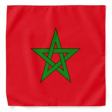 The kingdom of Morocco flag Bandana