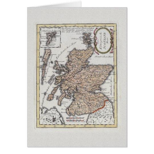 The Kingdom of Scotland Antique Map Card