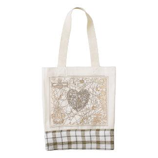 THE KINGDOM OF SPREZZATURA [heart] Zazzle HEART Tote Bag
