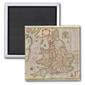 The Kingdome of England engraved by Jodocus Fridge Magnet
