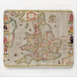 The Kingdome of England, engraved by Jodocus Mouse Pad