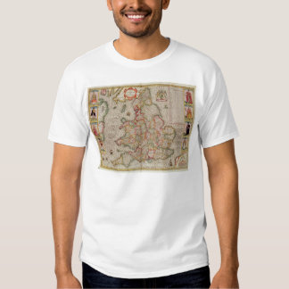 The Kingdome of England, engraved by Jodocus T Shirt