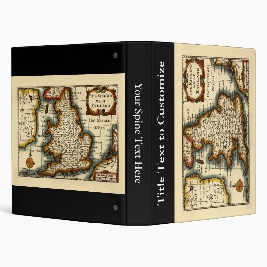 The Kingdome of England Historic Map 3 Ring Binder
