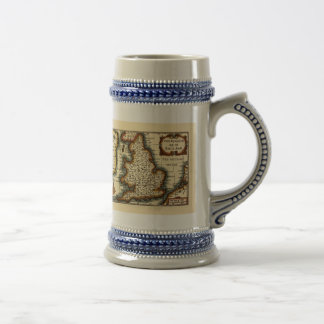 The Kingdome of England Historic Map Beer Stein