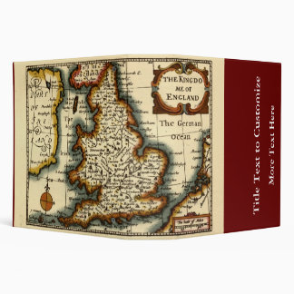 The Kingdome of England Historic Map Binder