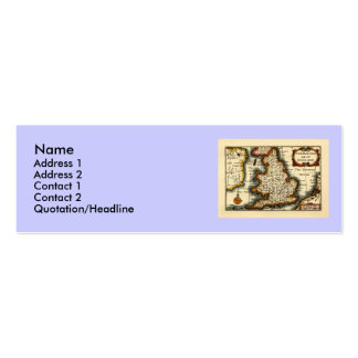 The Kingdome of England Historic Map Business Card Template