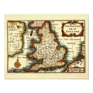 The Kingdome of England Historic Map Card