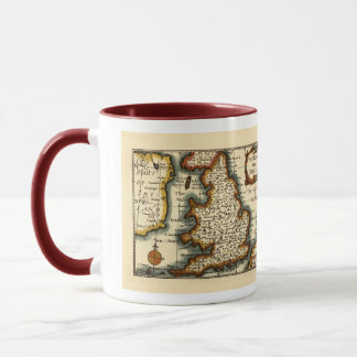 The Kingdome of England Historic Map Mug