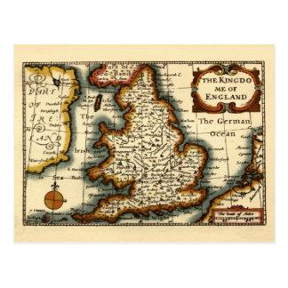 The Kingdome of England Historic Map Postcards
