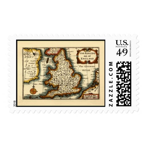 The Kingdome of England Historic Map Stamps