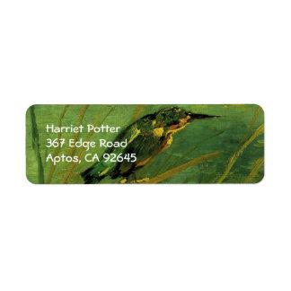 The Kingfisher, Vincent van Gogh Return Address Label