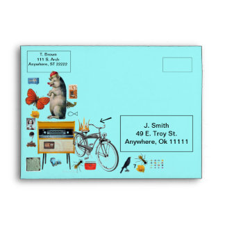 The Kings Bicycle Collage Envelope
