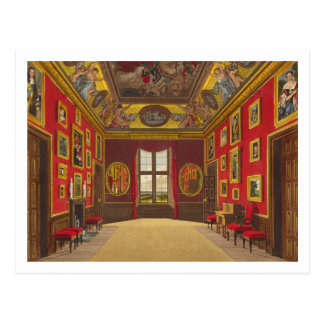 The King's Closet, Windsor Castle, from 'Royal Res Postcard
