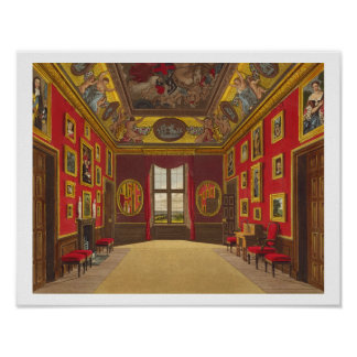The King's Closet, Windsor Castle, from 'Royal Res Poster