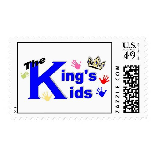 The King's Kids postcard stamp