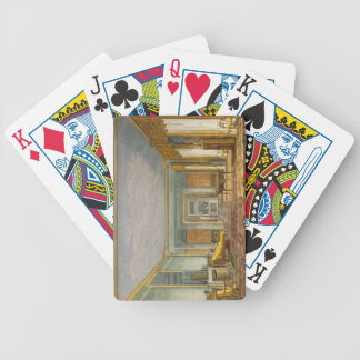 The King's Library from Views of The Royal Pavilio Bicycle Card Deck
