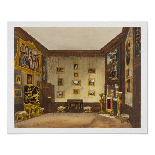 The King's Writing Closet, Hampton Court, from 'Th Posters