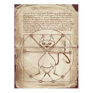The Kinky Vitruvian Kitty Postcard