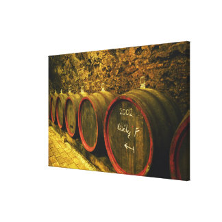 The Kiralyudvar winery: Barrels with Tokaj wine Canvas Print
