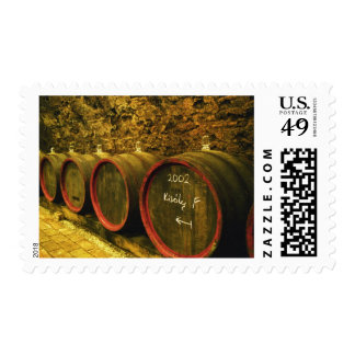 The Kiralyudvar winery: Barrels with Tokaj wine Postage
