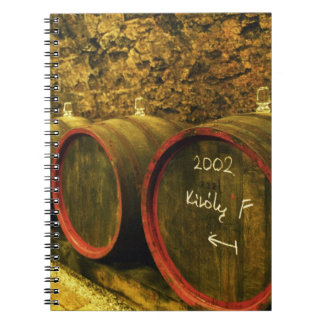 The Kiralyudvar winery: Barrels with Tokaj wine Spiral Notebook