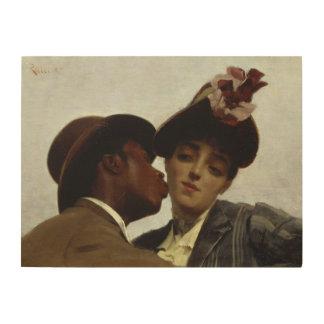 The Kiss, 1887 Wood Print