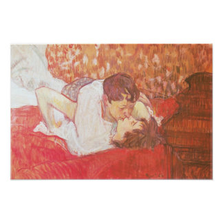 The Kiss, 1893 Poster