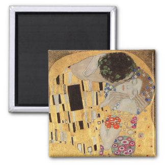The Kiss, 1907-08 2 2 Inch Square Magnet