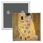 The Kiss, 1907-08 2 Inch Square Button