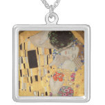 The Kiss, 1907-08 2 Square Pendant Necklace