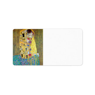 The Kiss 2 by Gustav Klimt Address Label