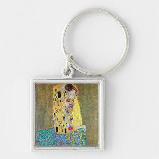 The Kiss 2 by Gustav Klimt Keychain