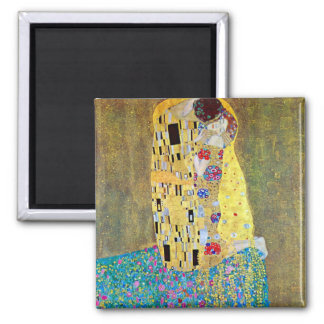 The Kiss 2 by Gustav Klimt 2 Inch Square Magnet