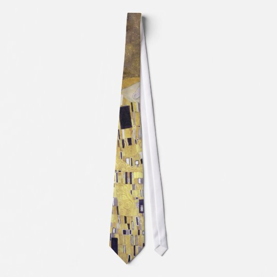 The Kiss Art Nouveau Gold Wedding Anniversary Tie